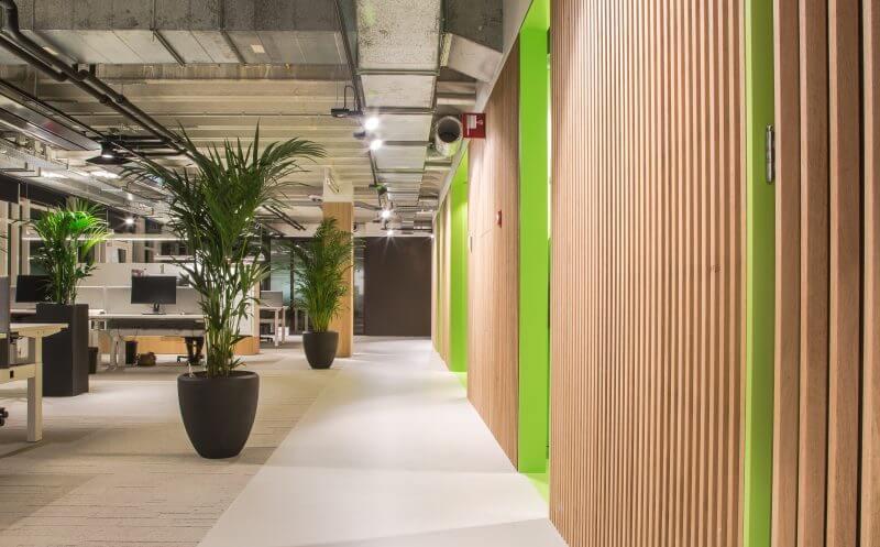 Moderne interieurbouw kantoren