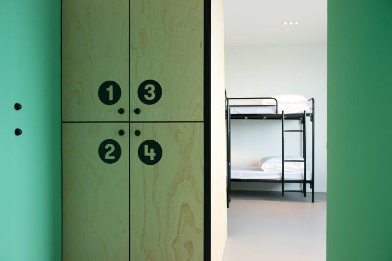 Lockers op maat gemaakt door Haklander interieurbouw