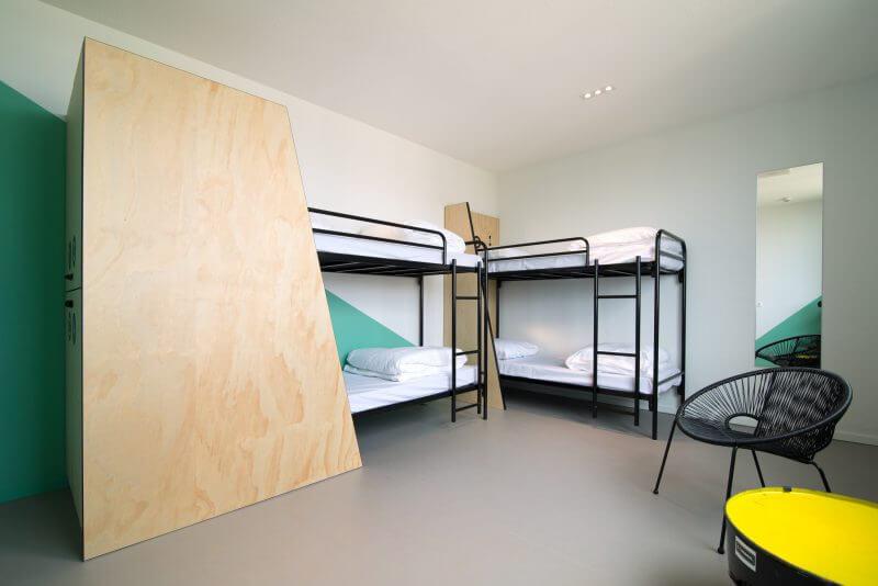 Hotelkamers ingericht met interieurbouw van Haklander