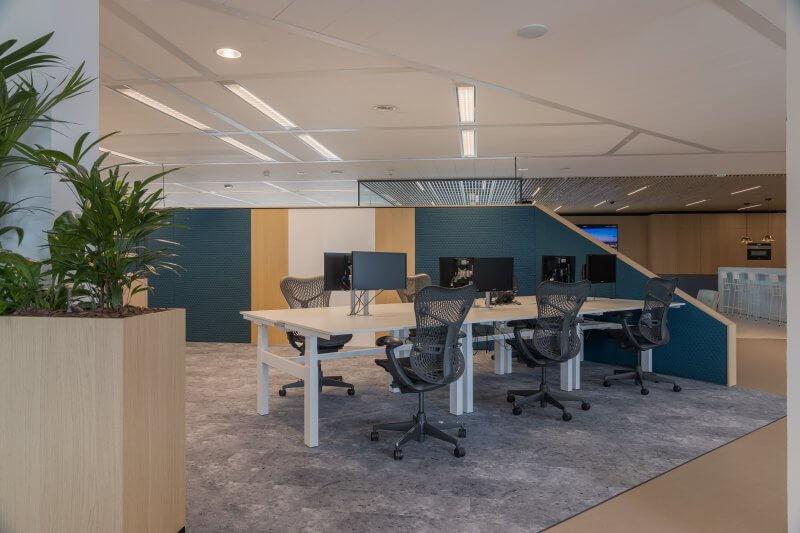 Open kantoorruimtes | Haklander Interieurbouw