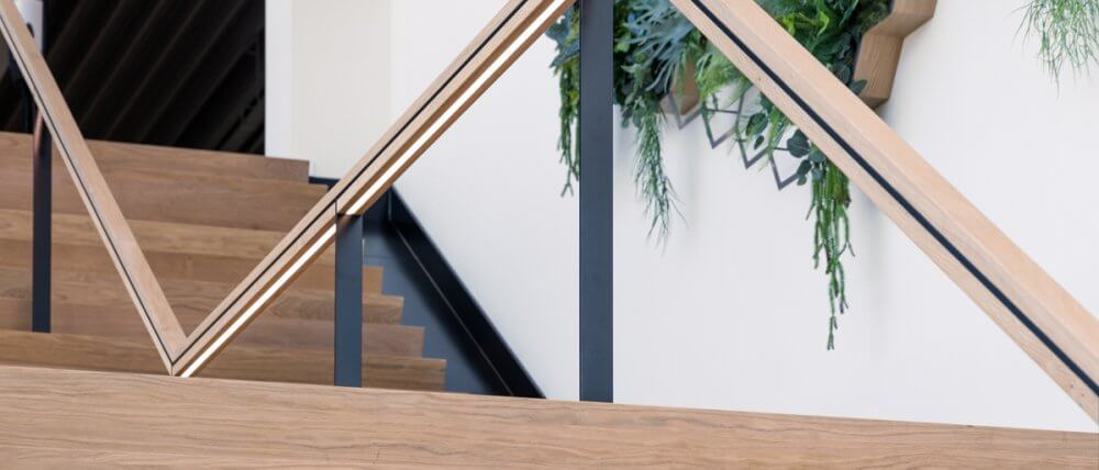 Trapopgang showroom | Interieurbouw